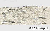 Shaded Relief Panoramic Map of Oleiros
