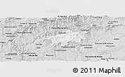 Silver Style Panoramic Map of Oleiros