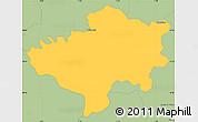 Savanna Style Simple Map of Oleiros