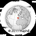 Outline Map of Pinhal Interior Sul