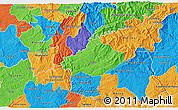 Political 3D Map of Serta