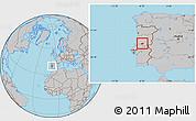 Gray Location Map of Serta