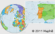 Political Location Map of Serta