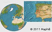 Satellite Location Map of Serta