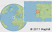 Savanna Style Location Map of Serta
