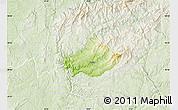 Physical Map of Serta, lighten