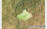 Physical Map of Serta, satellite outside