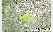 Physical Map of Serta, semi-desaturated