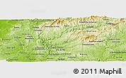Physical Panoramic Map of Serta