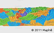 Political Panoramic Map of Serta