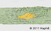 Savanna Style Panoramic Map of Serta