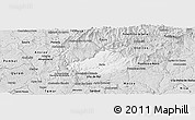 Silver Style Panoramic Map of Serta