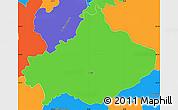 Political Simple Map of Serta