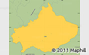 Savanna Style Simple Map of Serta