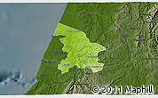 Physical 3D Map of Leiria, darken