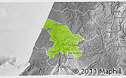 Physical 3D Map of Leiria, desaturated