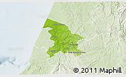 Physical 3D Map of Leiria, lighten