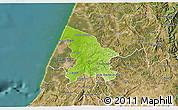 Physical 3D Map of Leiria, satellite outside