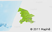 Physical 3D Map of Leiria, single color outside