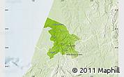 Physical Map of Leiria, lighten