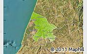 Physical Map of Leiria, satellite outside