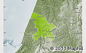 Physical Map of Leiria, semi-desaturated