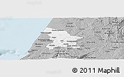 Gray Panoramic Map of Leiria