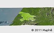 Physical Panoramic Map of Leiria, darken