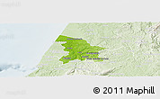 Physical Panoramic Map of Leiria, lighten