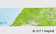 Physical Panoramic Map of Leiria