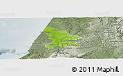 Physical Panoramic Map of Leiria, semi-desaturated