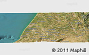 Satellite Panoramic Map of Leiria