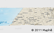Shaded Relief Panoramic Map of Leiria