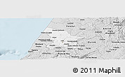 Silver Style Panoramic Map of Leiria