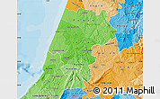 Political Shades Map of Pinhal Litoral