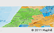 Political Shades Panoramic Map of Pinhal Litoral