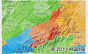 Political Shades 3D Map of Serra da Estrela
