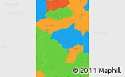 Political Simple Map of Serra da Estrela