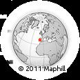 Outline Map of Lezíria Do Tejo