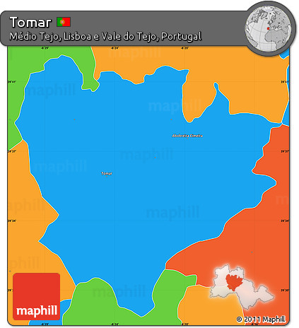 Free Political Simple Map Of Tomar - Portugal map tomar