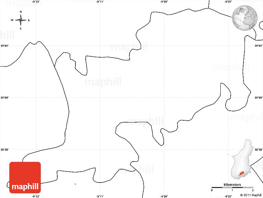 Blank Simple Map Of Sobral De Monte Agraço - Sobral map