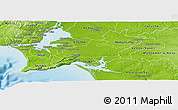 Physical Panoramic Map of Palmela