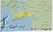 Savanna Style 3D Map of Setúbal