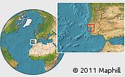 Satellite Location Map of Setúbal