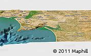 Satellite Panoramic Map of Setúbal