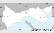 Gray Simple Map of Setúbal