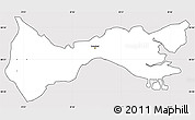 Silver Style Simple Map of Setúbal, cropped outside
