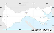 Silver Style Simple Map of Setúbal, single color outside