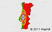 Flag Map of Portugal