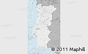 Gray Map of Portugal